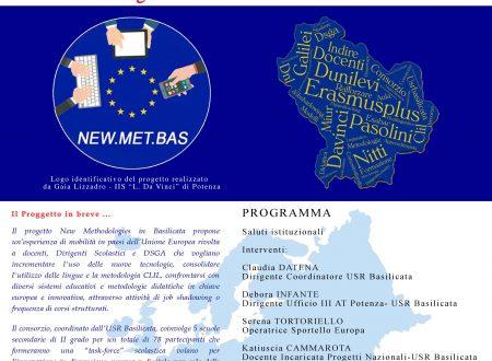 Evento di lancio del progetto Erasmus Plus New.Met.Bas – 10 maggio 2018 ore 16.30