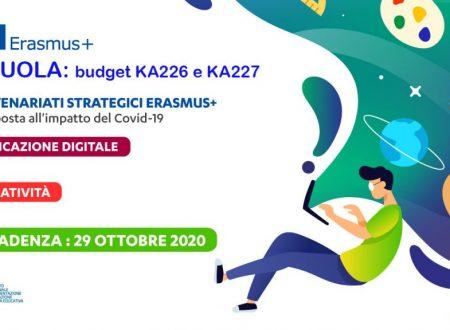 Bandi straordinari KA2 su Educazione Digitale e Creatività – scadenza 29 ottobre 2020 ore 12.00